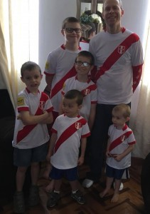 Cheering for Peru in the World Cup!