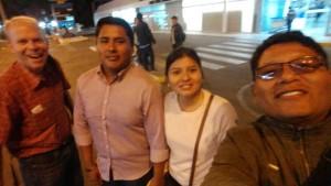 With Pastor Henry and Richard and Estefania Macedo