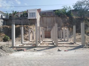 Construction at the Emmanuel Baptist Church in Macará, Ecuador