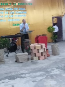 Preaching at the Peniel Baptist Church in Iquitos